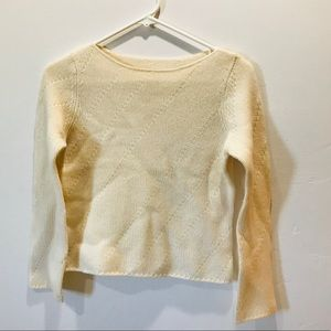 Crop knit sweater S